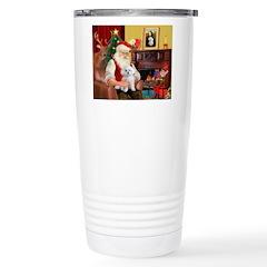 Santa's Maltese (#11) Stainless Steel Travel Mug
