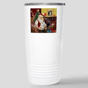 Santa's Maltese Stainless Steel Travel Mug