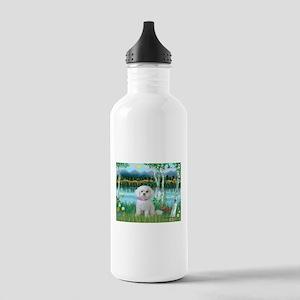 Birches / Maltese (R) Stainless Water Bottle 1.0L
