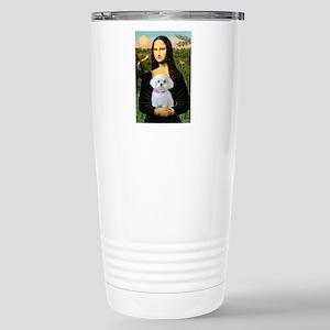 Mona's Maltese (R) Stainless Steel Travel Mug