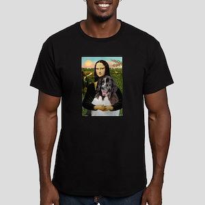 Mona Lisa's Landseer Men's Fitted T-Shirt (dark)