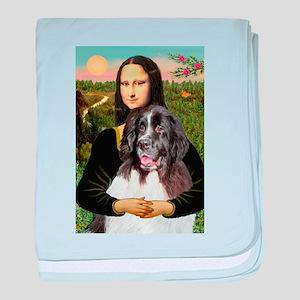 Mona Lisa's Landseer baby blanket