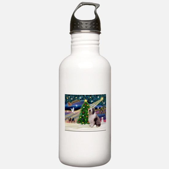 XmasMagic/Old English #9 Water Bottle