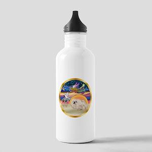 XmasStar/Pekingese (w) Stainless Water Bottle 1.0L
