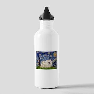Starry Night white Peke Stainless Water Bottle 1.0