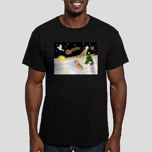 Night Flight/Pomeranian #2 Men's Fitted T-Shirt (d