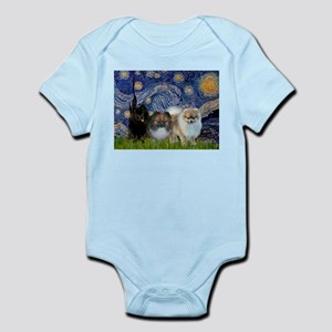 Starry/3 Pomeranians Infant Bodysuit