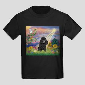 Cloud Angel & Poodle (#2) Kids Dark T-Shirt