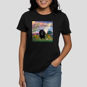 Cloud Angel & Poodle #17 Women's Dark T-Shirt