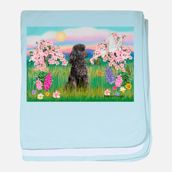 Blossoms/Poodle (miniature #2 baby blanket