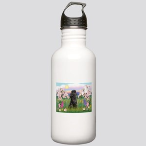 Blossoms/Poodle (miniature #2 Stainless Water Bott