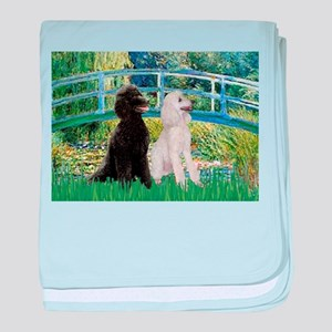 Bridge & Poodle Pair #2 baby blanket