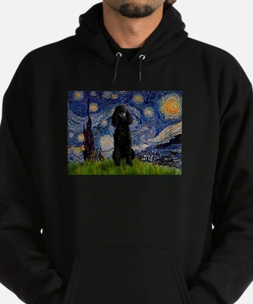 Starry Night Black Poodle (ST Hoodie (dark)