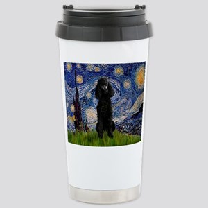 Starry Night Black Poodle (ST Stainless Steel Trav