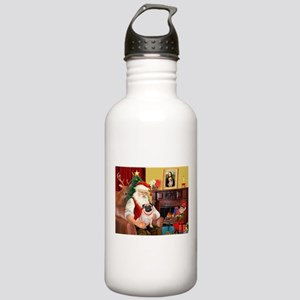 Santa's fawn Pug (#21) Stainless Water Bottle 1.0L