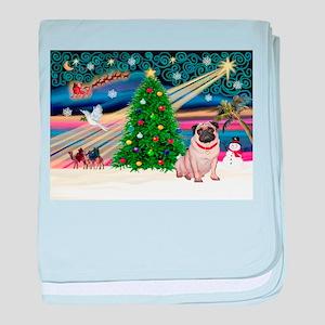 Xmas Magic/Pug (21F) baby blanket