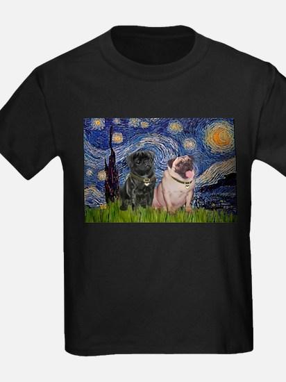 Starry Night & Pug Pair T