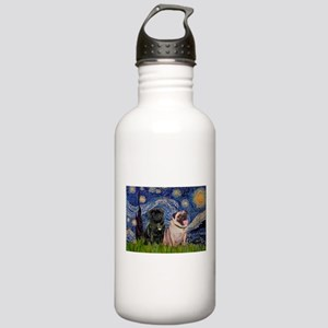 Starry Night & Pug Pair Stainless Water Bottle 1.0