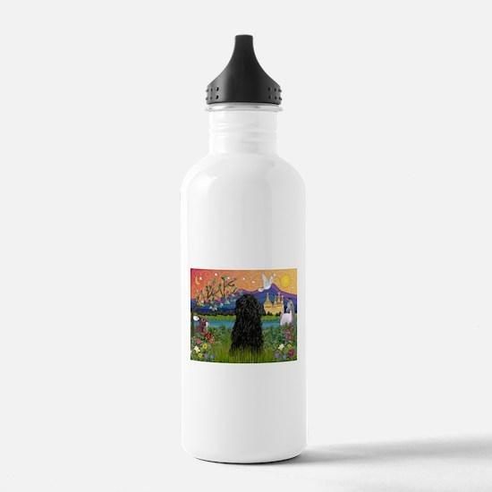 Puli in Fantasy Land Water Bottle