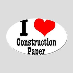 I Heart (Love) Construction P 22x14 Oval Wall Peel