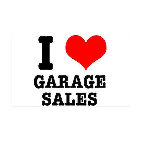 I Heart (Love) Garage Sales 38.5 x 24.5 Wall Peel