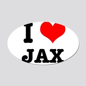 I Heart (Love) Jax 22x14 Oval Wall Peel