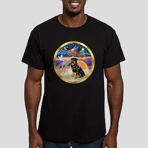 XmasStar/Rottie #3 Men's Fitted T-Shirt (dark)