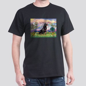 Cloud Angel & Rottweiler Dark T-Shirt
