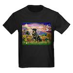 Autumn Angel & Rottie Kids Dark T-Shirt