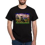 Autumn Angel & Rottie Dark T-Shirt