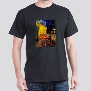 Cafe with Rottie Dark T-Shirt