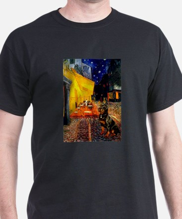 Cafe with Rottie T-Shirt