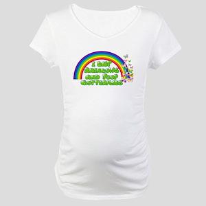 Rainbows and Butterflies Maternity T-Shirt