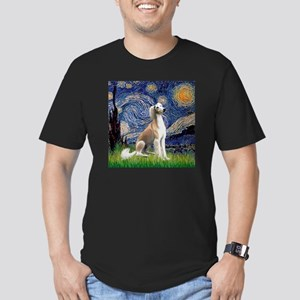 Starry Night & Fawn Saluki Men's Fitted T-Shirt (d
