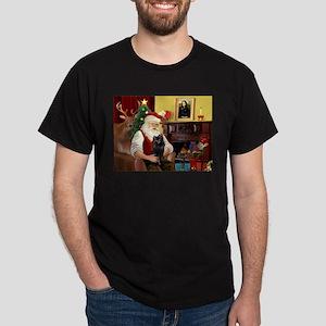Santa's Schipperke Dark T-Shirt