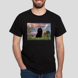 Cloud Angel & Schipperke Dark T-Shirt