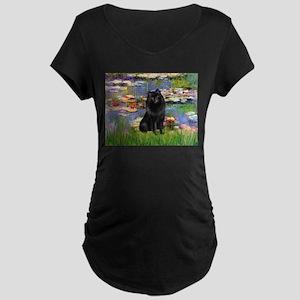 Lilies & Schipperke Maternity Dark T-Shirt