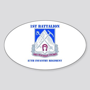 DUI - 1st Bn - 87th Infantry Regt with Text Sticke