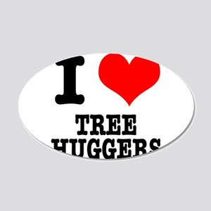 I Heart (Love) Tree Huggers 22x14 Oval Wall Peel