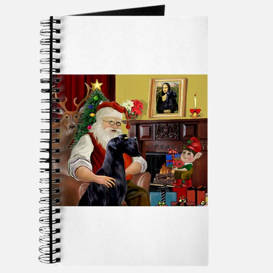 Santa's Giant Schnauzer (Blk) Journal
