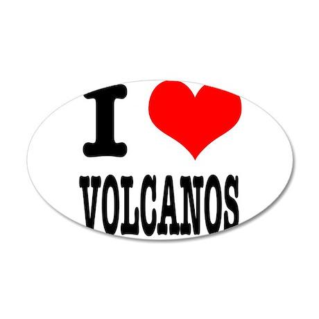 I Heart (Love) Volcanos 22x14 Oval Wall Peel