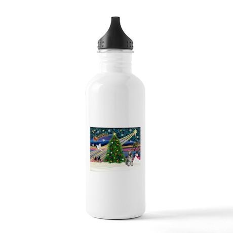 XmasMagic/Schnauzer 1C Stainless Water Bottle 1.0L