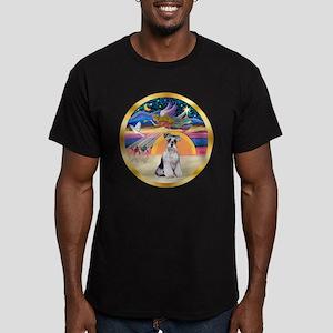 XmasStar/Schnauzer # 2 Men's Fitted T-Shirt (dark)