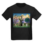 St Francis & Schnauzer (#5) Kids Dark T-Shirt
