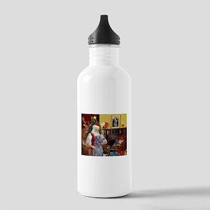 Santa's Deerhound Stainless Water Bottle 1.0L