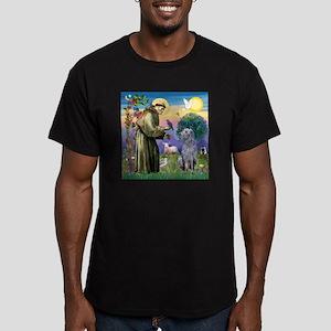 St Francis Deerhound Men's Fitted T-Shirt (dark)