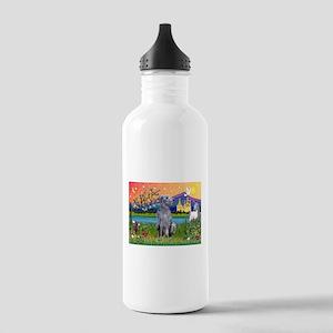 Deerhound in Fantasy Land Stainless Water Bottle 1