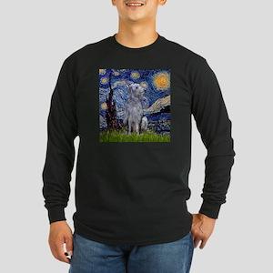 Starry Night Deerhound Long Sleeve Dark T-Shirt