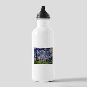 Starry Night Deerhound Stainless Water Bottle 1.0L