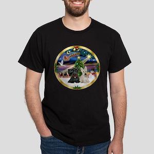 XmasMagic/Scottish Terrier pa Dark T-Shirt